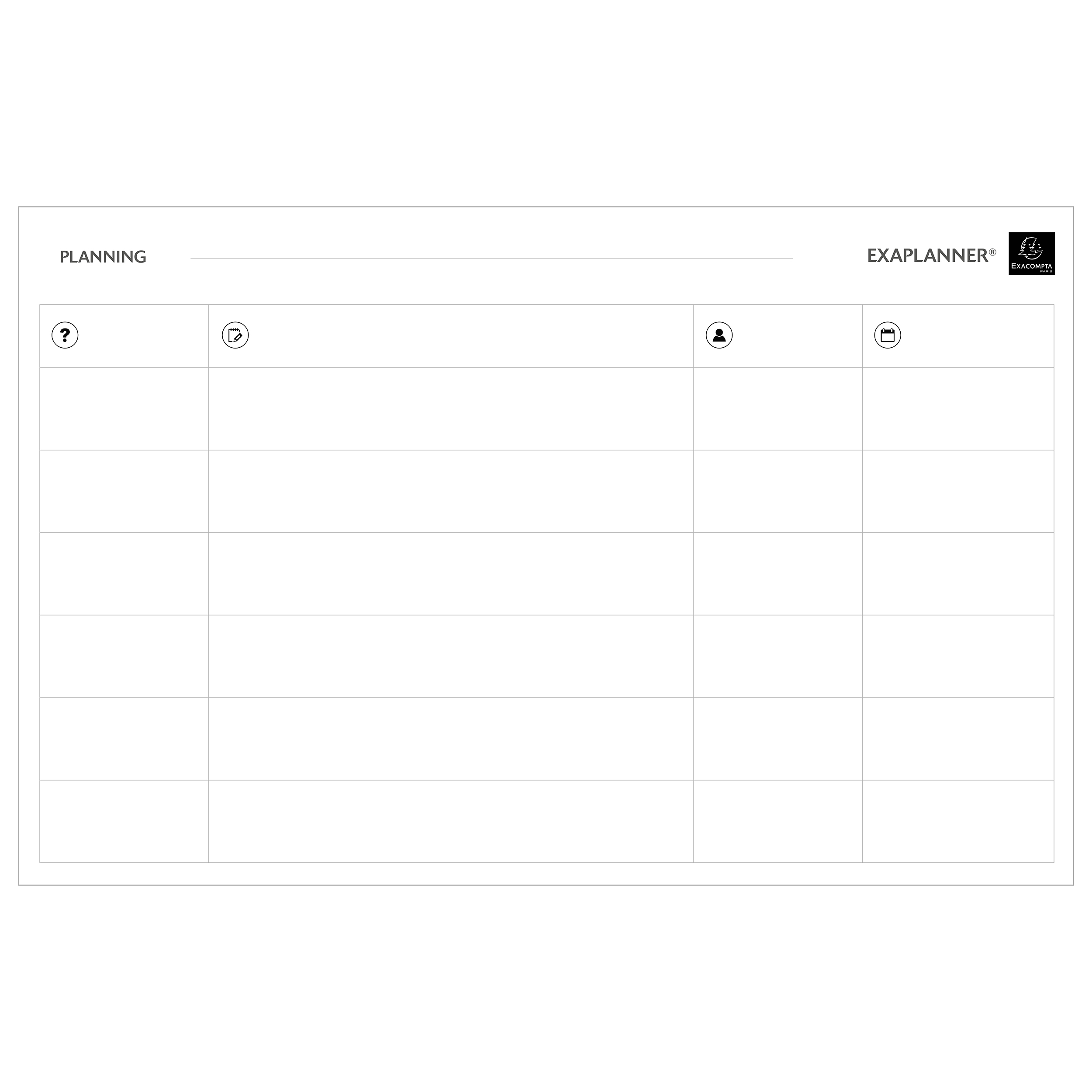 Planners Exacompta Magnetic Team Planner 900x50x590mm Ref 57170E