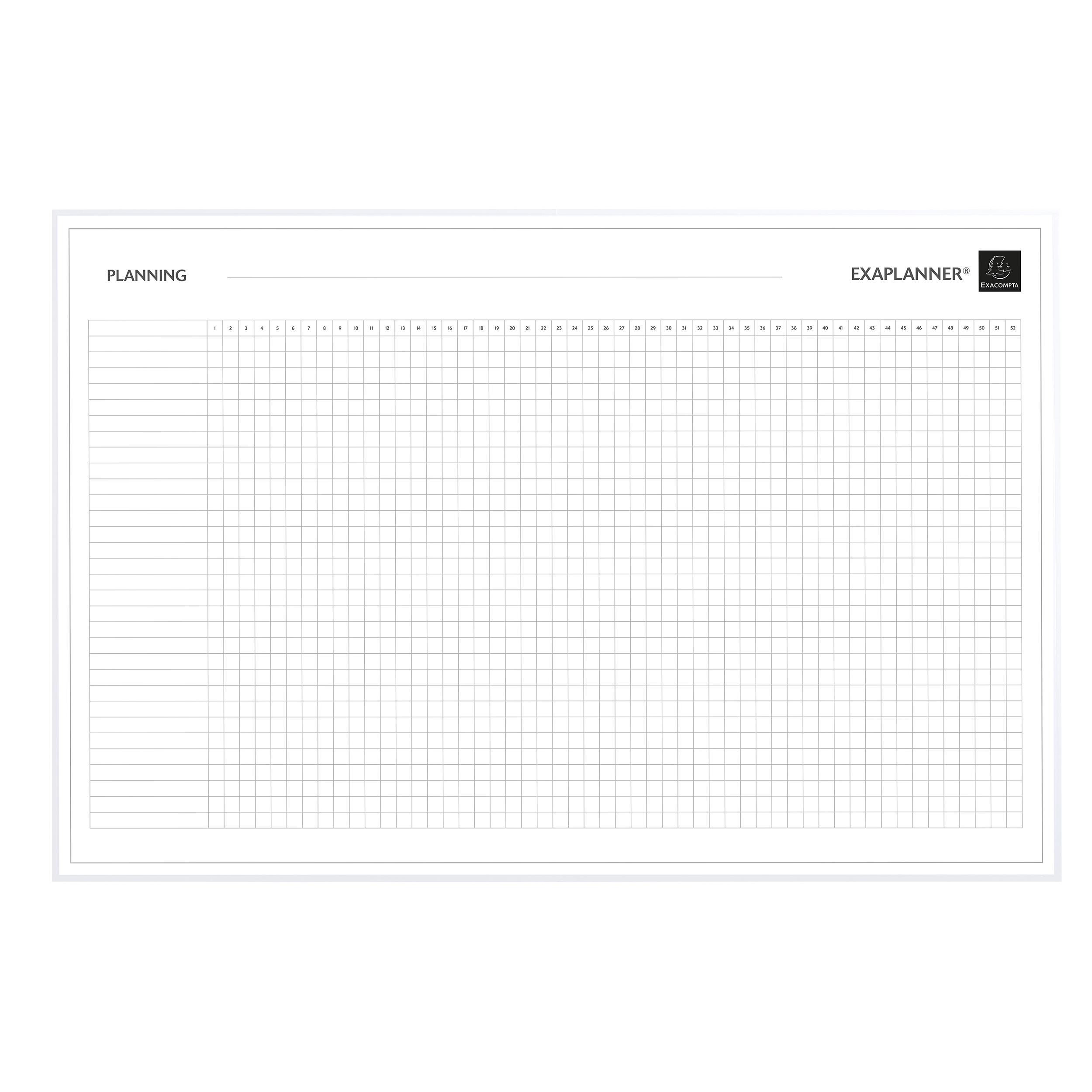 Wall planners Exacompta Magnetic Project Management Planner 900x50x590mm Ref 57160E