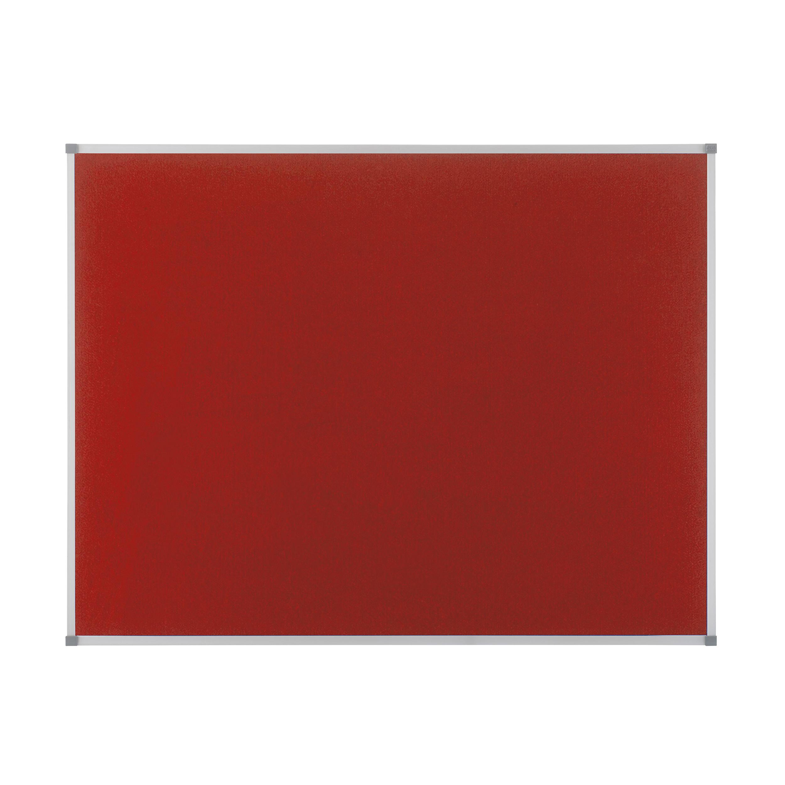 Felt Nobo Classic Noticeboard Felt with Aluminium Frame W900xH600mm Red Ref 1902259
