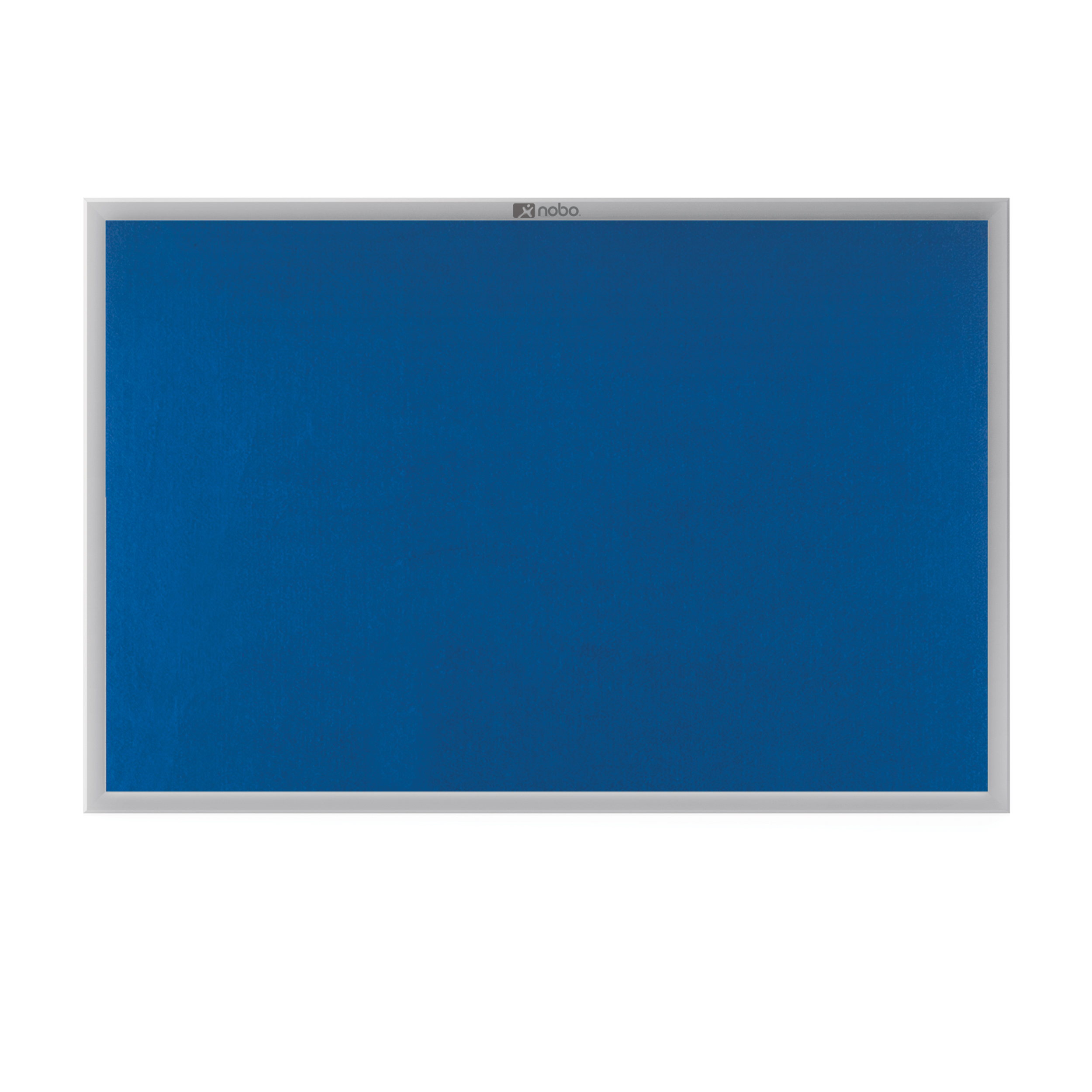Nobo EuroPlus Felt Noticeboard with Fixings and Aluminium Frame W900xH600mm Blue Ref 30230174