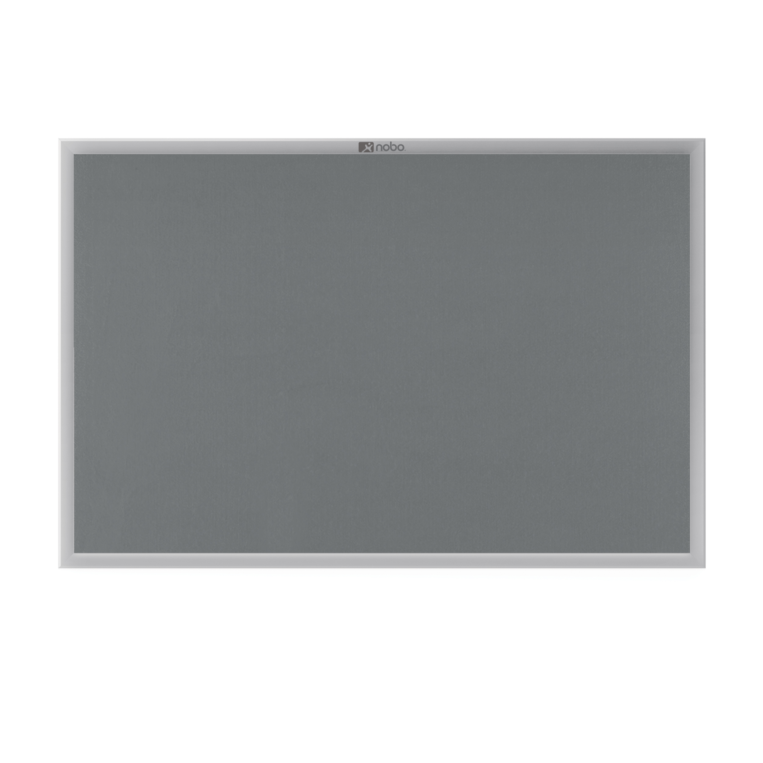 Felt Nobo Europlus Felt Noticeboard with Fixings and Aluminium Frame W900xH600mm Grey Ref 30230157