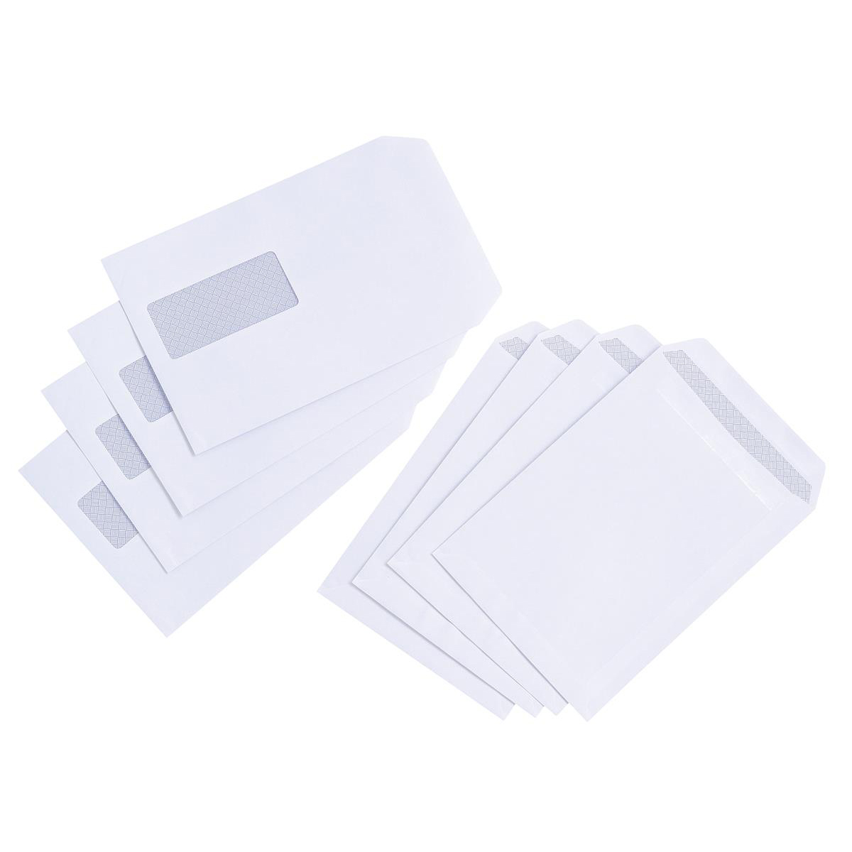 5 Star Value Envelopes Pocket Press Seal Window 90gsm C5 229x162mm White Pack 500