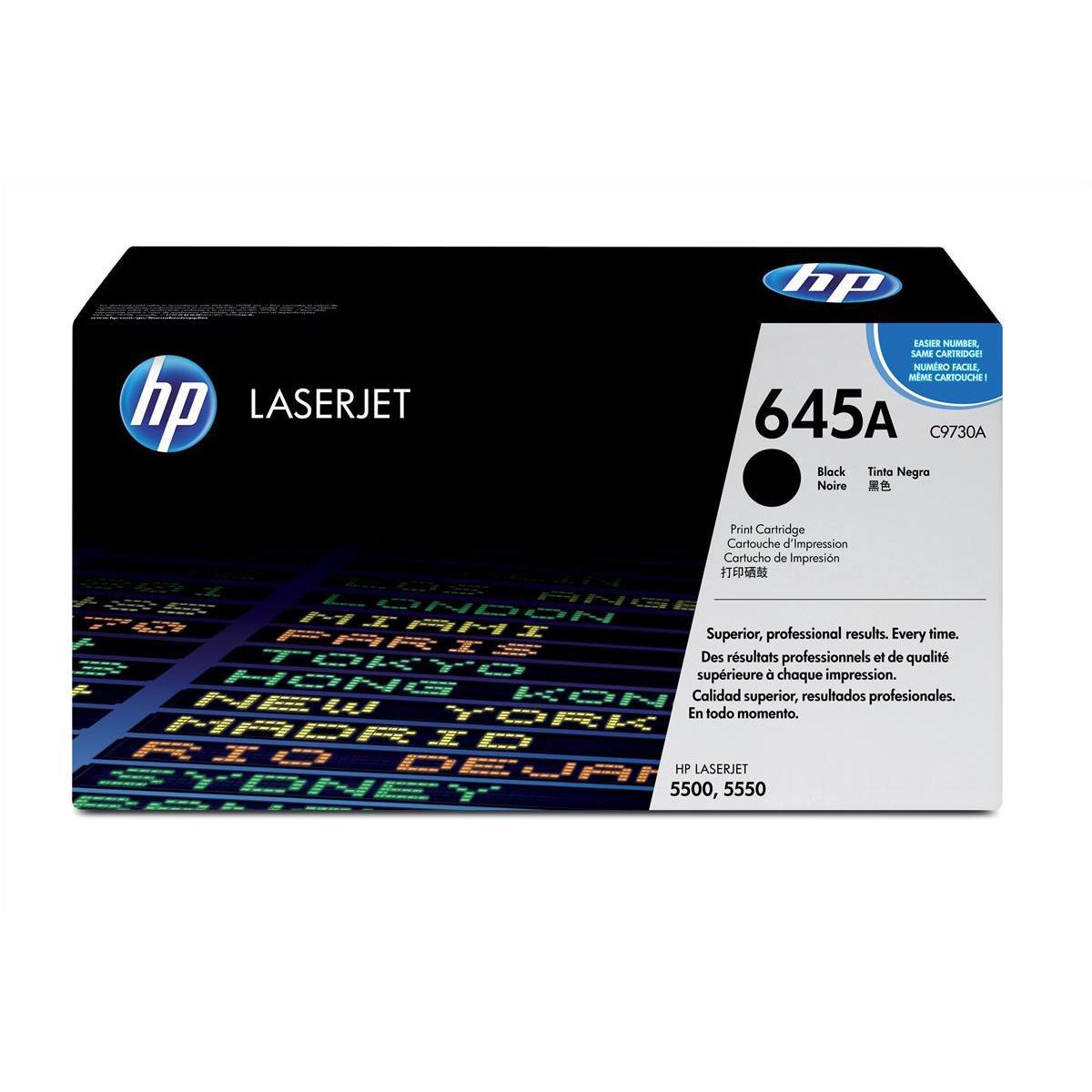 HP 645A Laser Toner Cartridge Page Life 13000pp Black Ref C9730A