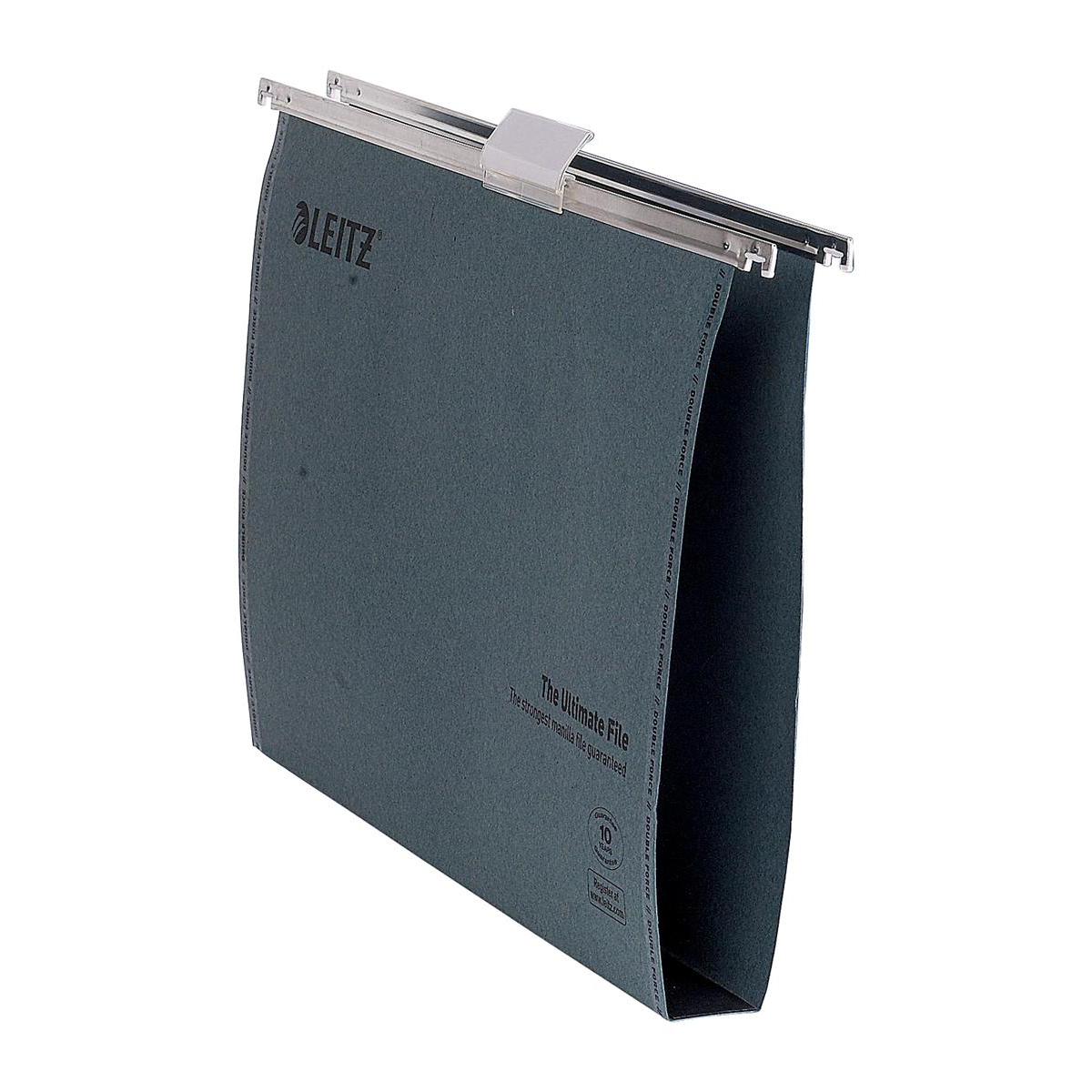 Leitz Ultimate Suspension File Recycled Manilla Wide 30mm 215gsm Foolscap Green Ref 17450055 [Pack 50]