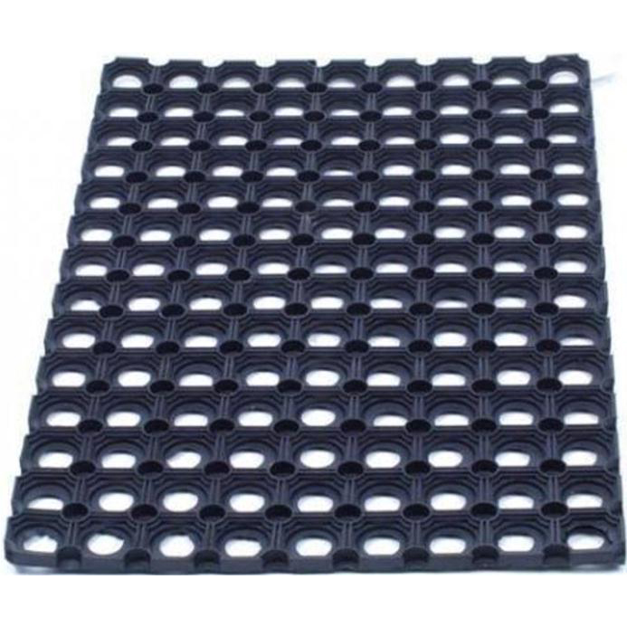 Doortex Octomat Door Mat Indoor and Outdoor Rubber 600x800mm Black Ref FC468220CBK