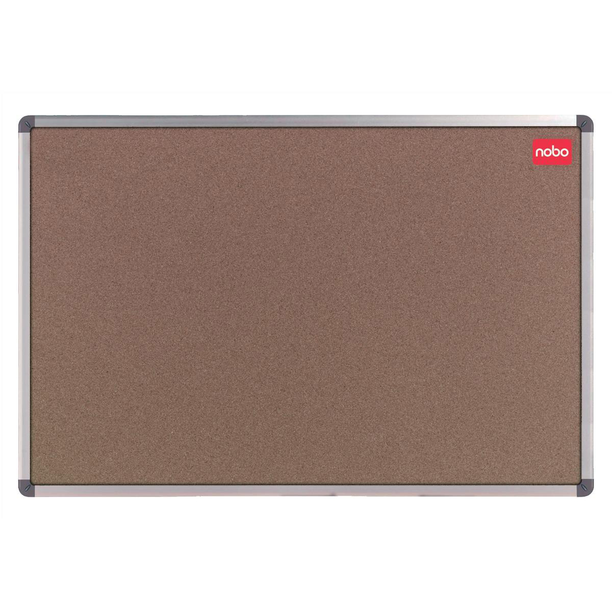Cork Nobo Classic Office Noticeboard Cork with Fixings and Aluminium Trim W1200xH900mm Ref 30530321