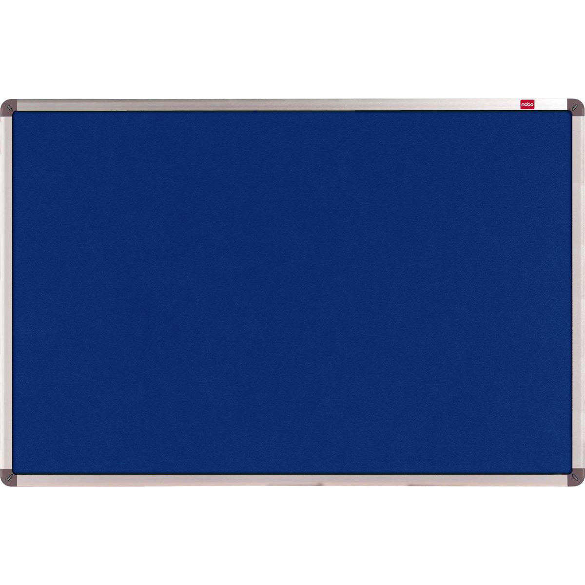 Felt Nobo Classic Noticeboard Felt with Aluminium Frame W1800xH1200mm Blue Ref 1900982