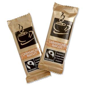 Fairtrade Caramelised Biscuits Individually-wrapped Portions Ref NST544 [Pack 300]