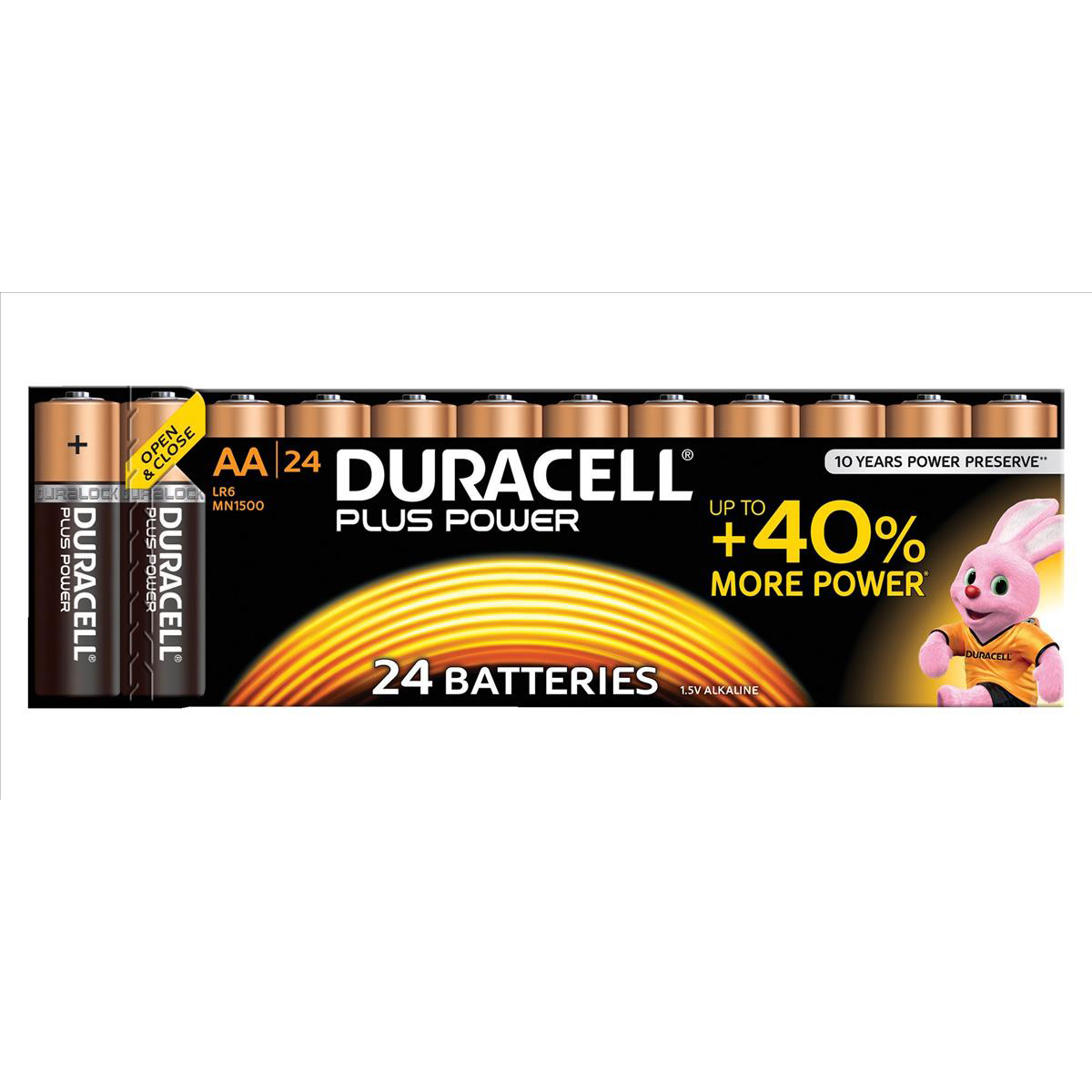 Duracell Plus Power Battery Alkaline 1.5V AA Ref 81275383 Pack 24
