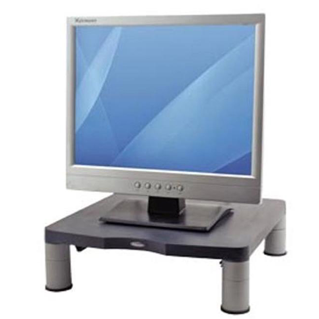 Risers / Stands Fellowes Standard Monitor Riser 17in CRT 21in TFT Capacity 27kg 3 Heights 51-102mm Graphite Ref 9169301