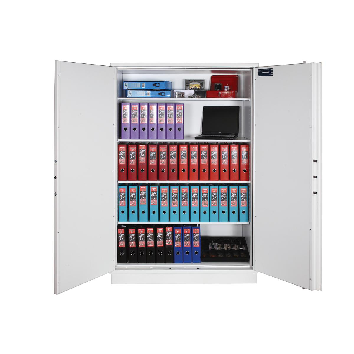 Phoenix Firechief Security Cupboard Fire Resistant 817 Litre Capacity 200kg W1250xD520x1950mm Ref FS1654K