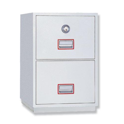 Phoenix Firefile Filing Cabinet Fire Resistant 2 Lockable Drawers 140Kg W525xD675xH720mm Ref FS2252K