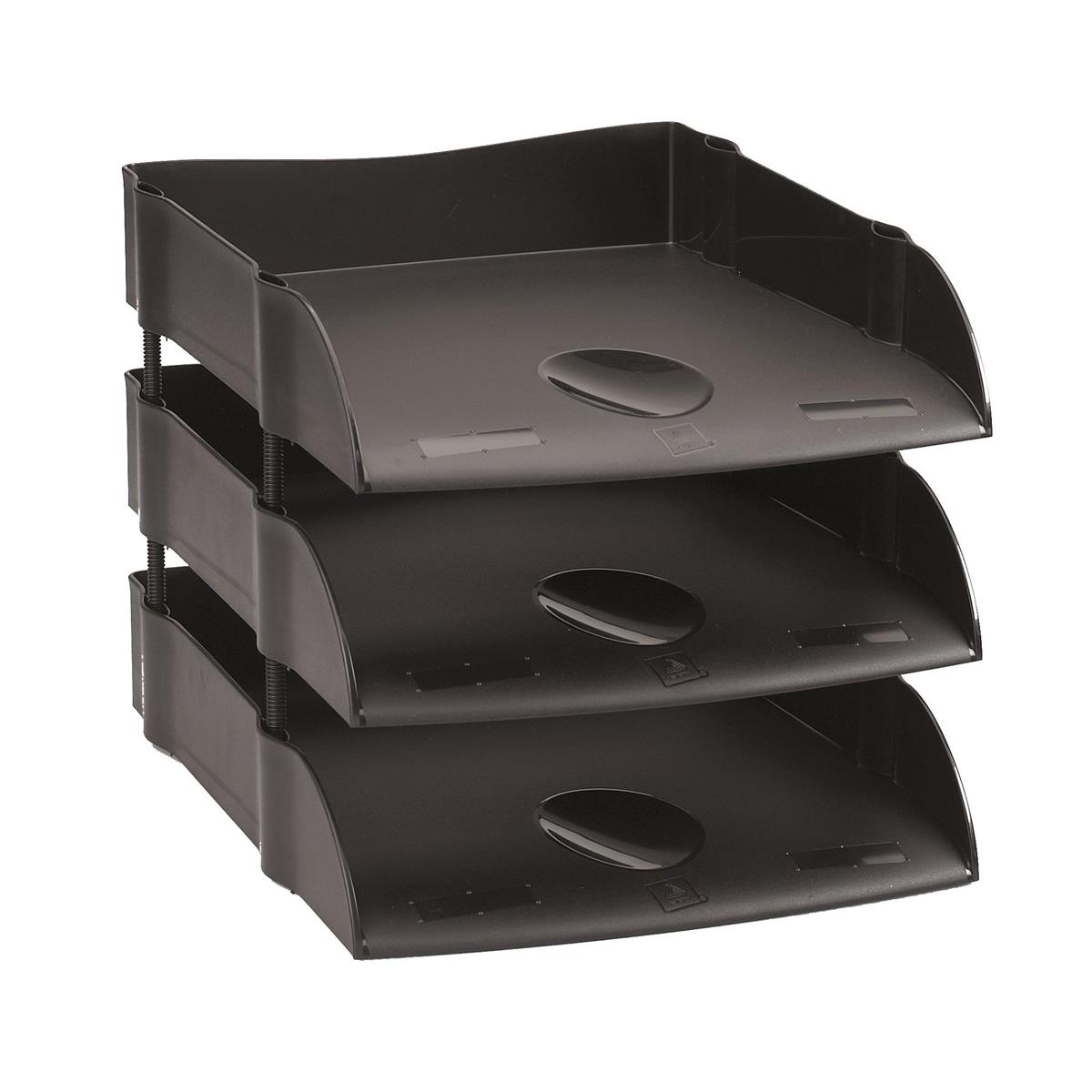 Avery DTR Letter Tray Self-stacking W270xD360xH60mm Black Ref DR100BLK