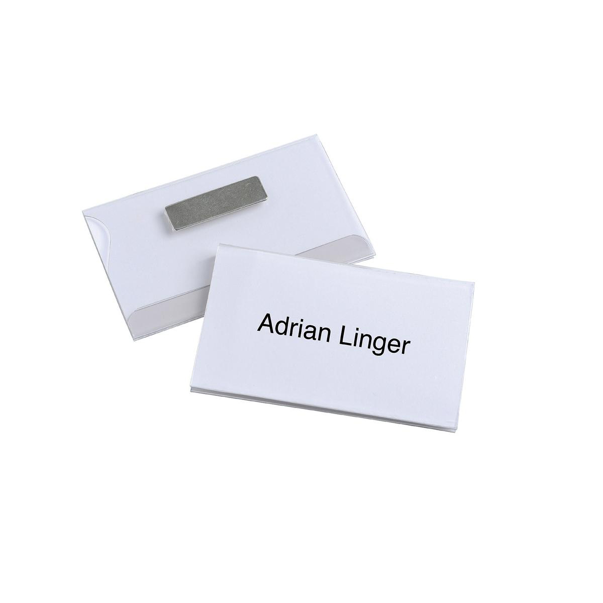 Durable Name Badges Magnetic W90xH54mm Transparent PVC Ref 8117 Pack 25