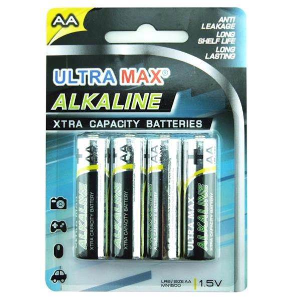 AA 5 Star Value Alkaline Batteries AA Pack 4