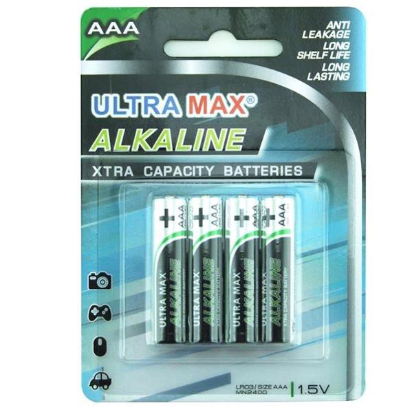 5 Star Value Alkaline Batteries AAA Pack 4