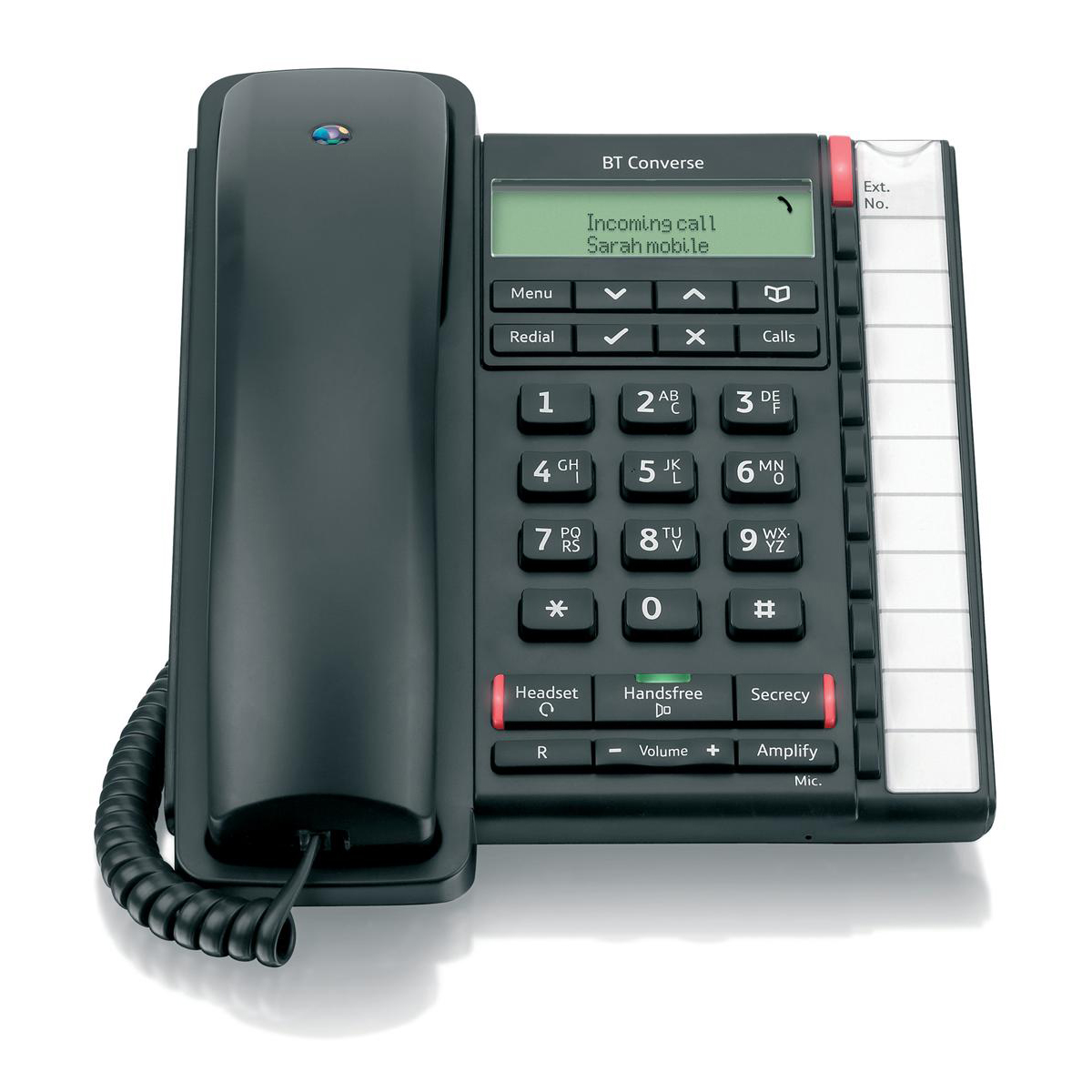 Analogue telephones BT Converse 2300 Telephone Caller Display 10 Redial 100-entry Directory Black Ref 040212
