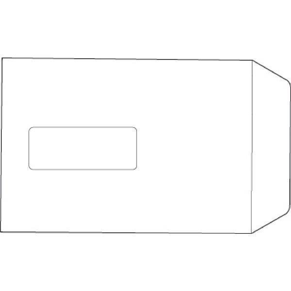 5 Star Value Envelopes Pocket Press Seal Window 90gsm C5 229x162mm White [Pack 500]
