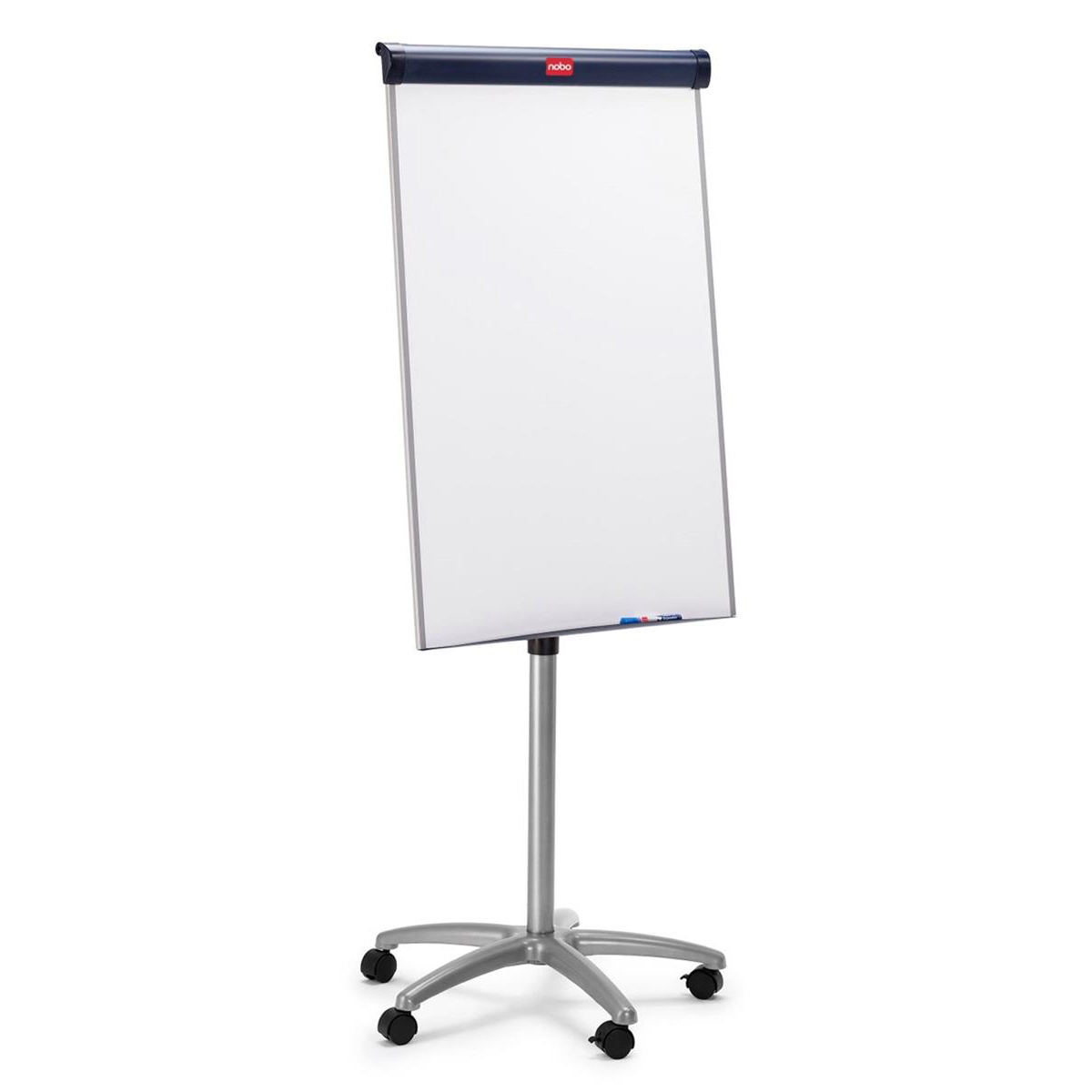 Nobo Classic Steel Mobile Magnetic Easel Height-adjustable 5 Castors W700xH1000mm Ref 1902386