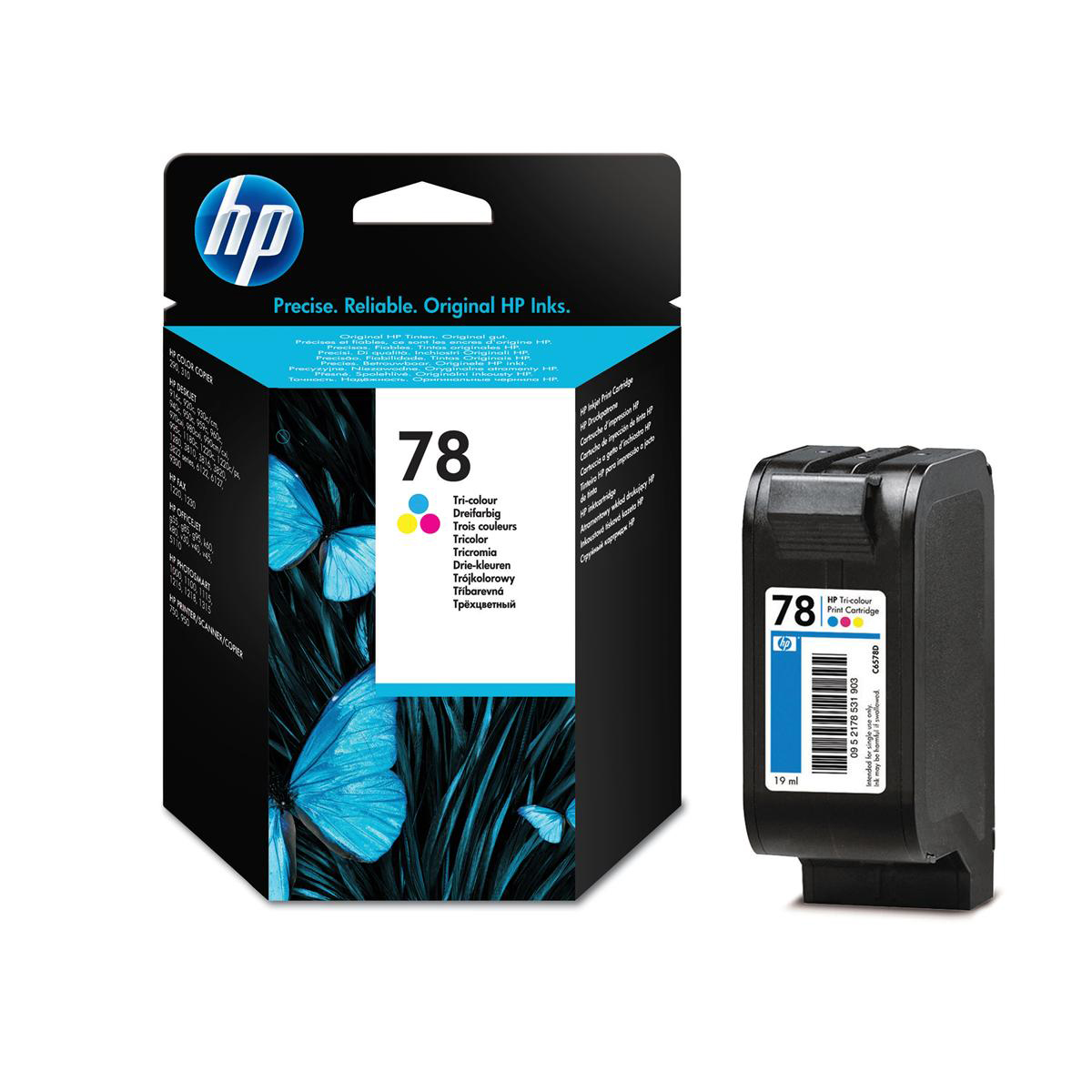 Hewlett Packard HP No.78 Inkjet Cartridge Page Life 560pp 19ml Tri-Colour Ref C6578D