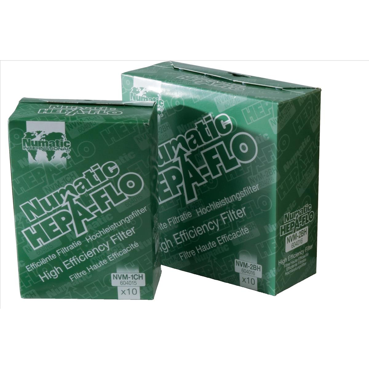 Numatic Replacement Bags Hepa-Flo for Vacuum Cleaners Charles & George Ref NVM2BH Pack 10