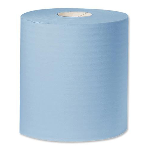 Wypall Industrial Sized Giant Cleaning Towel Roll 2-Ply 310mmx350m Blue Ref Y04440