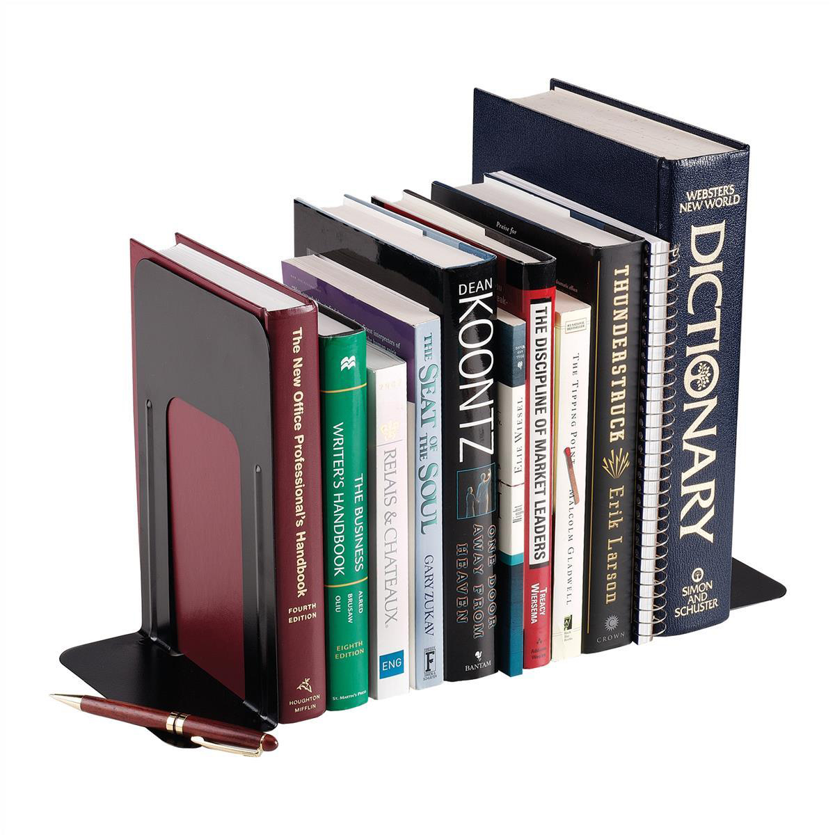 Image for 5 Star Office Bookends Large Metal Black [Pack 2]