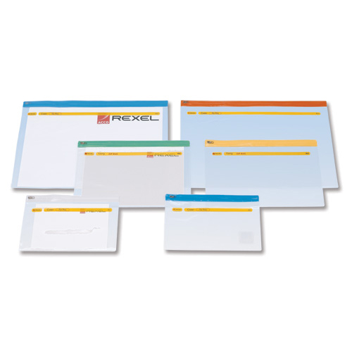 Rexel Active Zip Bag Heavyweight PVC Clear with Coloured Seal A4 Assorted Ref A4 Pack 30
