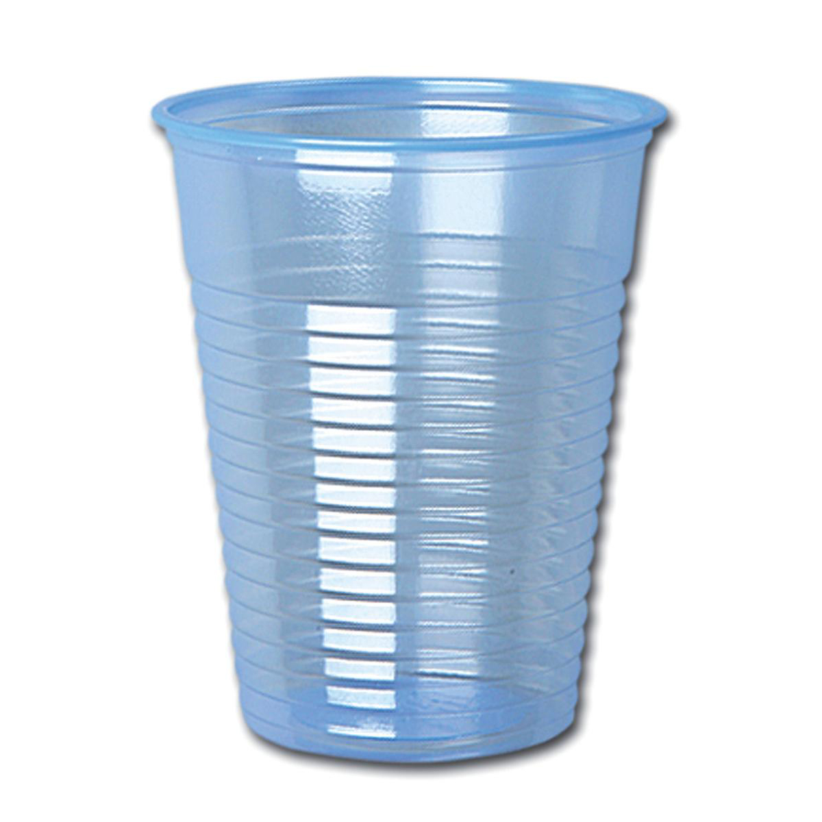 Water Cups Plastic Non Vending for Cold Drinks 7oz 207ml Clear Blue [Pack 1000]