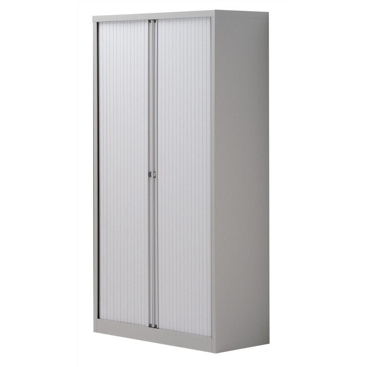 Storage cabinets Trexus by Bisley Side Opening Tambour Door Cupboard 1000x470x1970-1985mm Grey/Grey Ref YETB1019.1