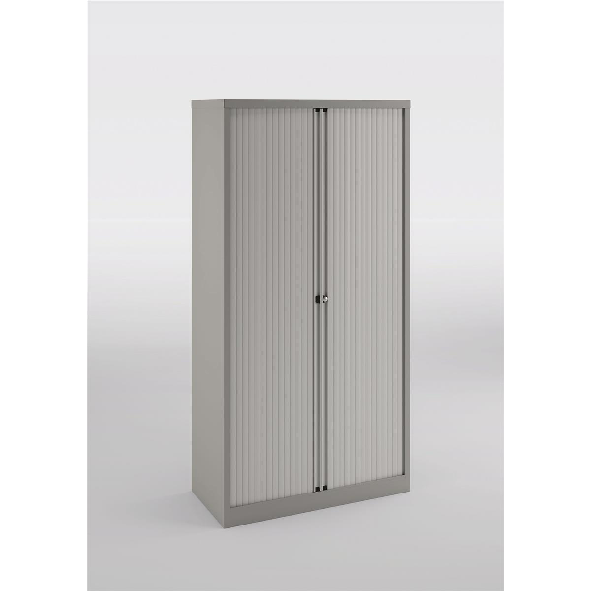 Trexus by Bisley Side Opening Tambour Door Cupboard 1000x470x1970-1985mm Grey/Grey Ref YETB1019.1