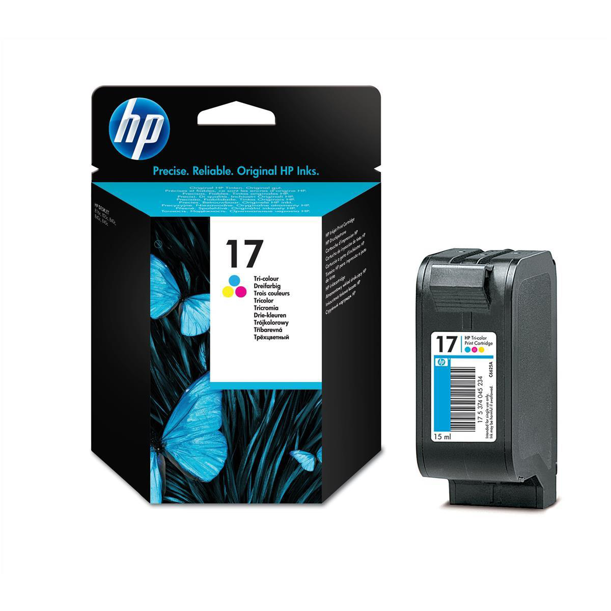 Hewlett Packard HP No.17 Inkjet Cartridge Page Life 480pp 15ml Tri-Colour Ref C6625A