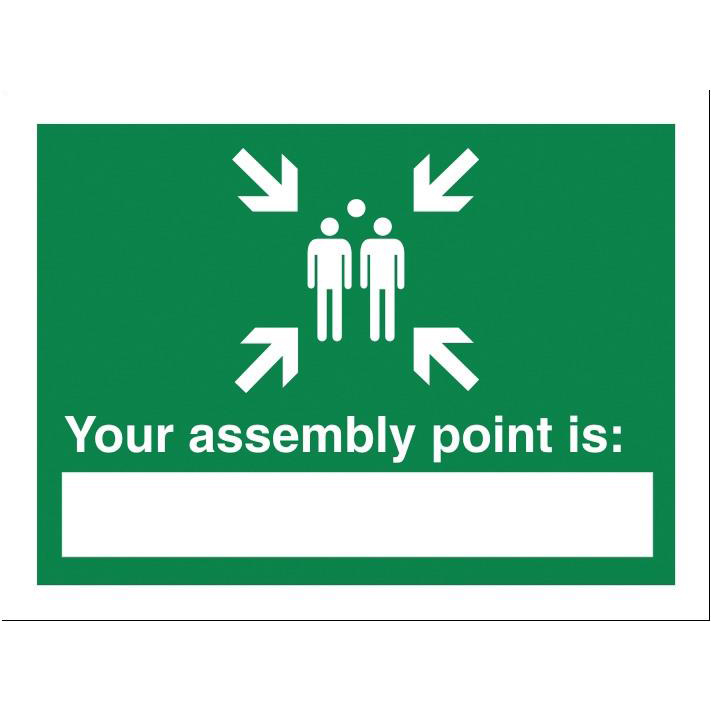 Stewart Superior Your Assembly Point Is Sign Write-on W200xH150mm Polypropylene Ref SP076PP