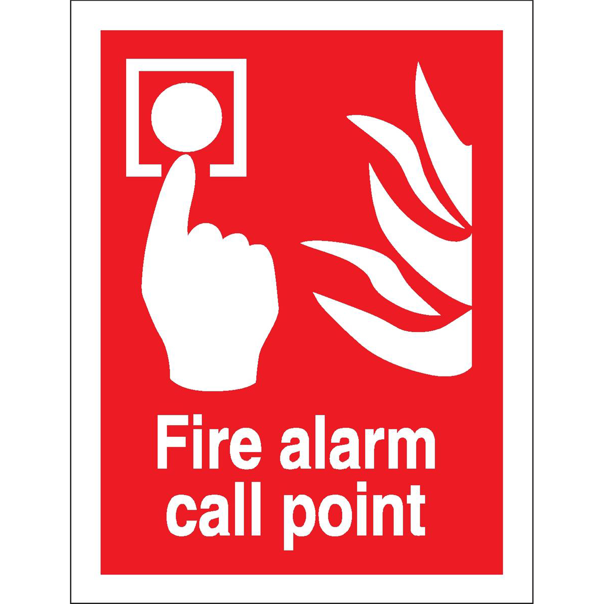 Fire Stewart Superior Fire Alarm Call Point Sign W150xH200mm Self-adhesive Vinyl Ref FF073SAV
