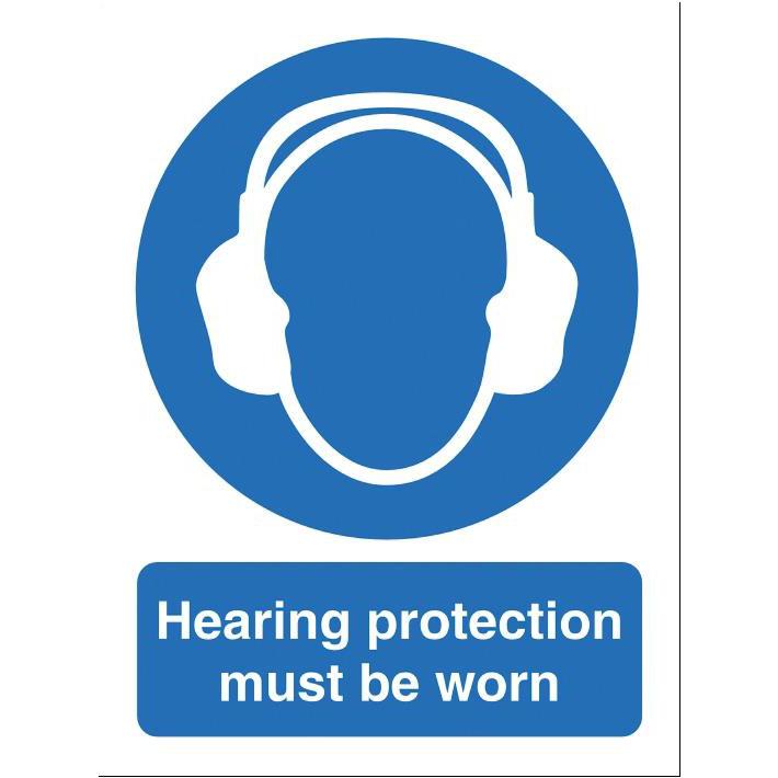 Stewart Superior Hearing Protection Must Be Worn Self Adhesive Sign Ref M002SAV