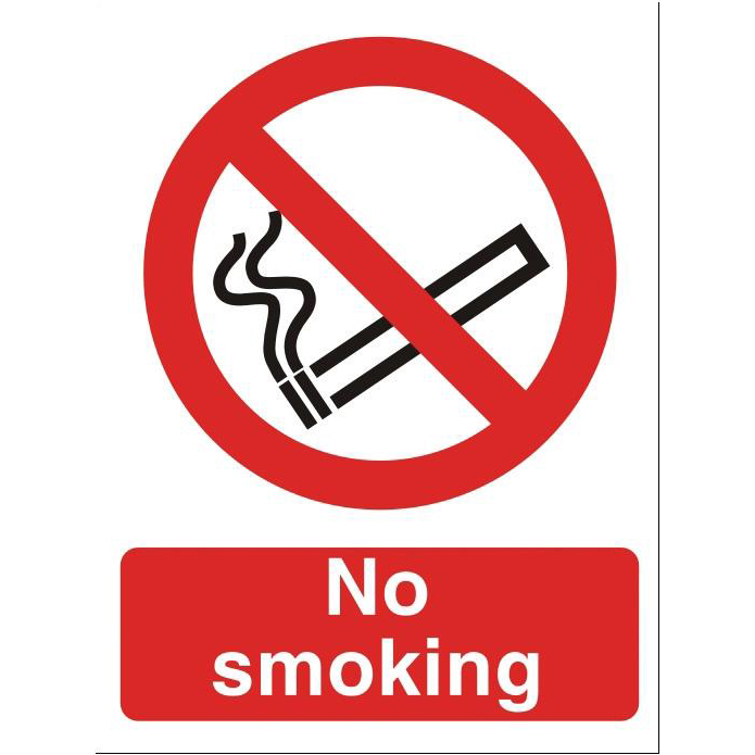 Smoking Stewart Superior No Smoking Sign W150xH200mm Self-adhesive Vinyl Ref P089SAV