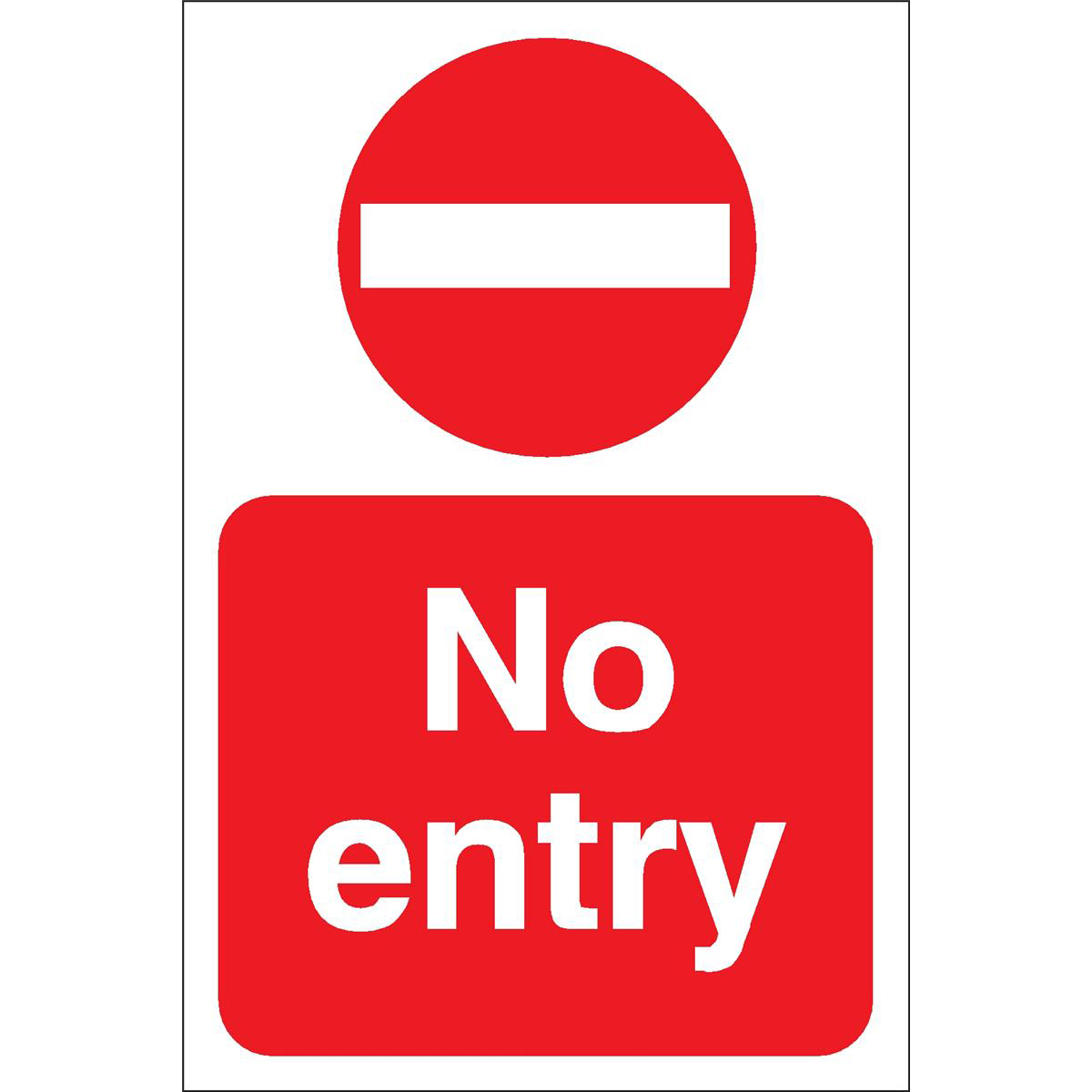 Stewart Superior No Entry Sign Outdoor Use W200xH300mm Foamboard Ref FB024PVC