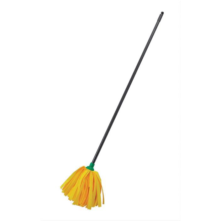 Wet mops Addis Complete Cloth Mop Head & Handle With Green Socket and Thick Absorbent Strands Ref 510243