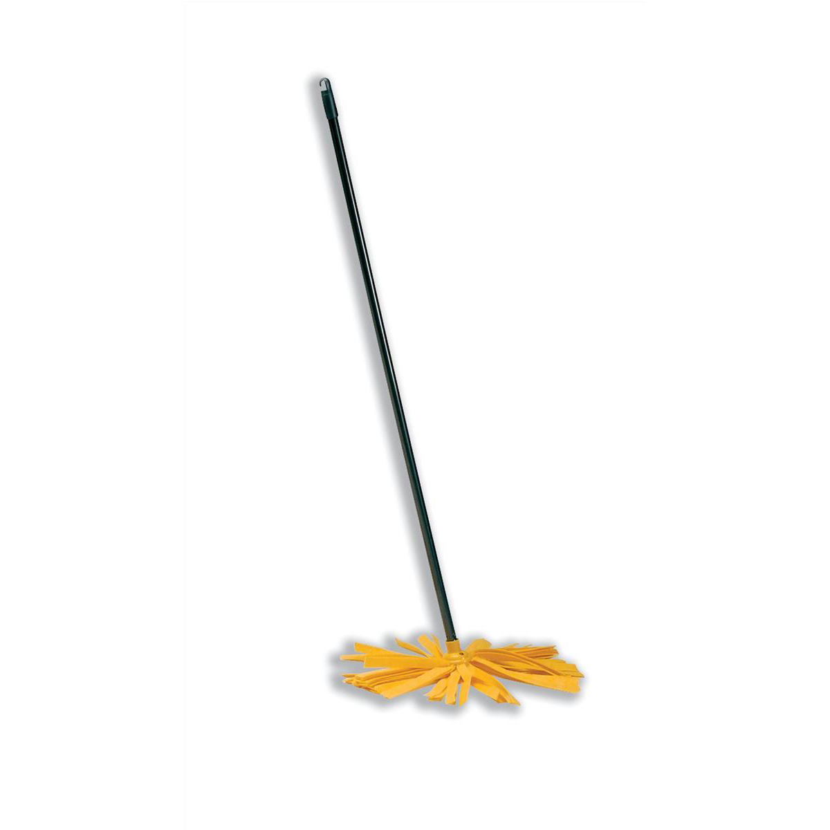 Wet mops Addis Complete Cloth Mop Head & Handle With Yellow Socket and Thick Absorbent Strands Ref 510246