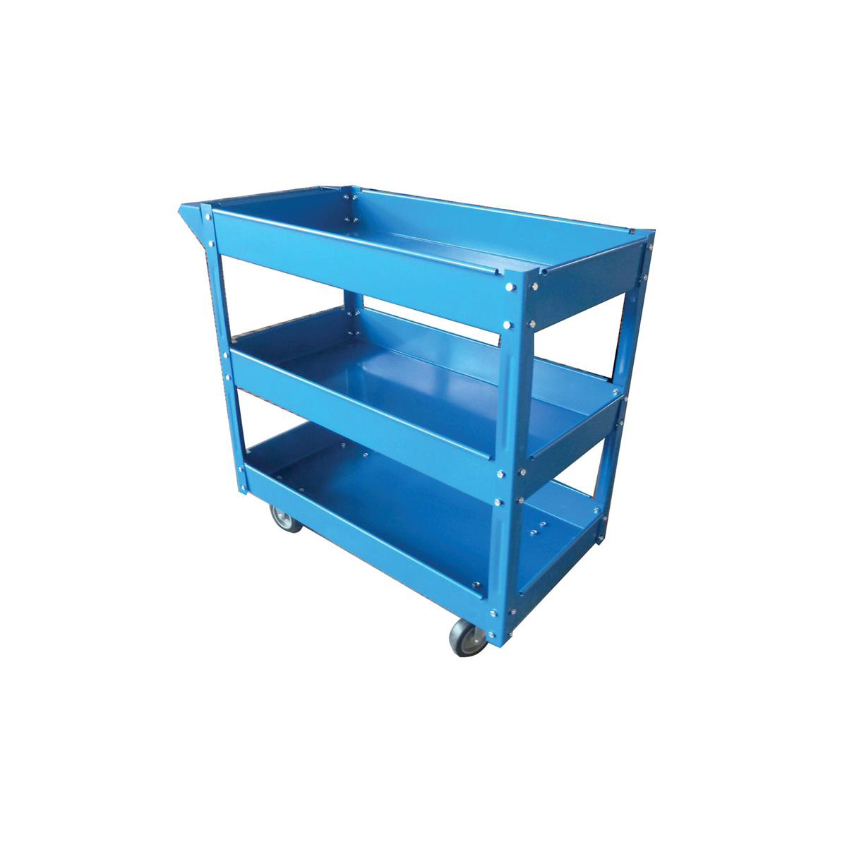 Trolleys or accessories 5 Star Facilities serving Trolley 3 Tier W460xD865xH840mm Blue