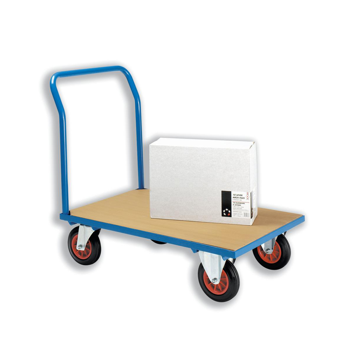 Platform Trucks 5 Star Facilities Platform Truck Heavy-duty Capacity 500kg Baseboard W1000xD700mm Blue