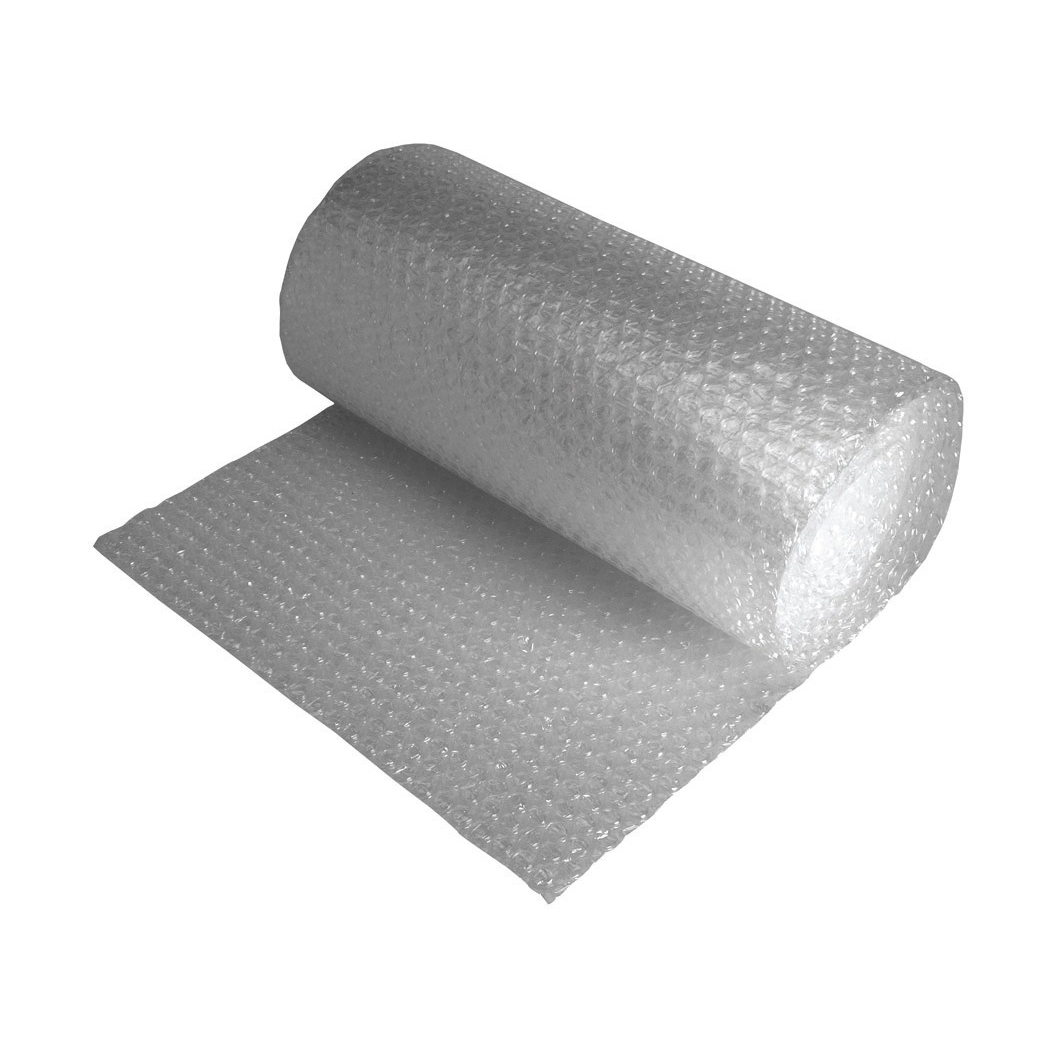 Plastic slip sheet Jiffy Bubble Film Roll No Core Bubbles of Diam. 10mmxH5mm 600mmx25m Clear Ref JB-S20L-060025
