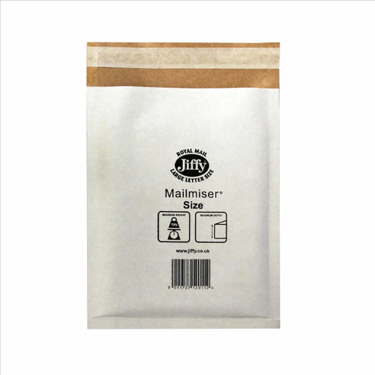 Padded Bags & Envelopes Jiffy Mailmiser Protective Envelopes Size 6 Bubble-lined 290x445mm White Ref JMM-WH-6 [Pack 50]