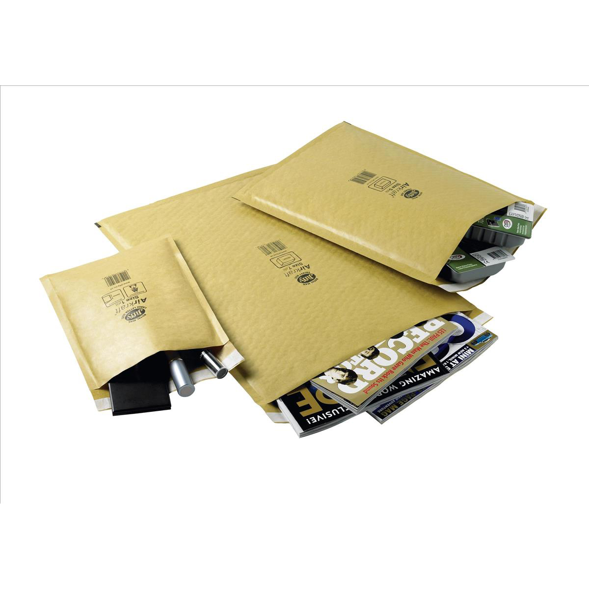Jiffy Airkraft Bubble Bag Envelopes Size 4 Peel and Seal 240x320mm Gold Ref JL-GO-4 Pack 50
