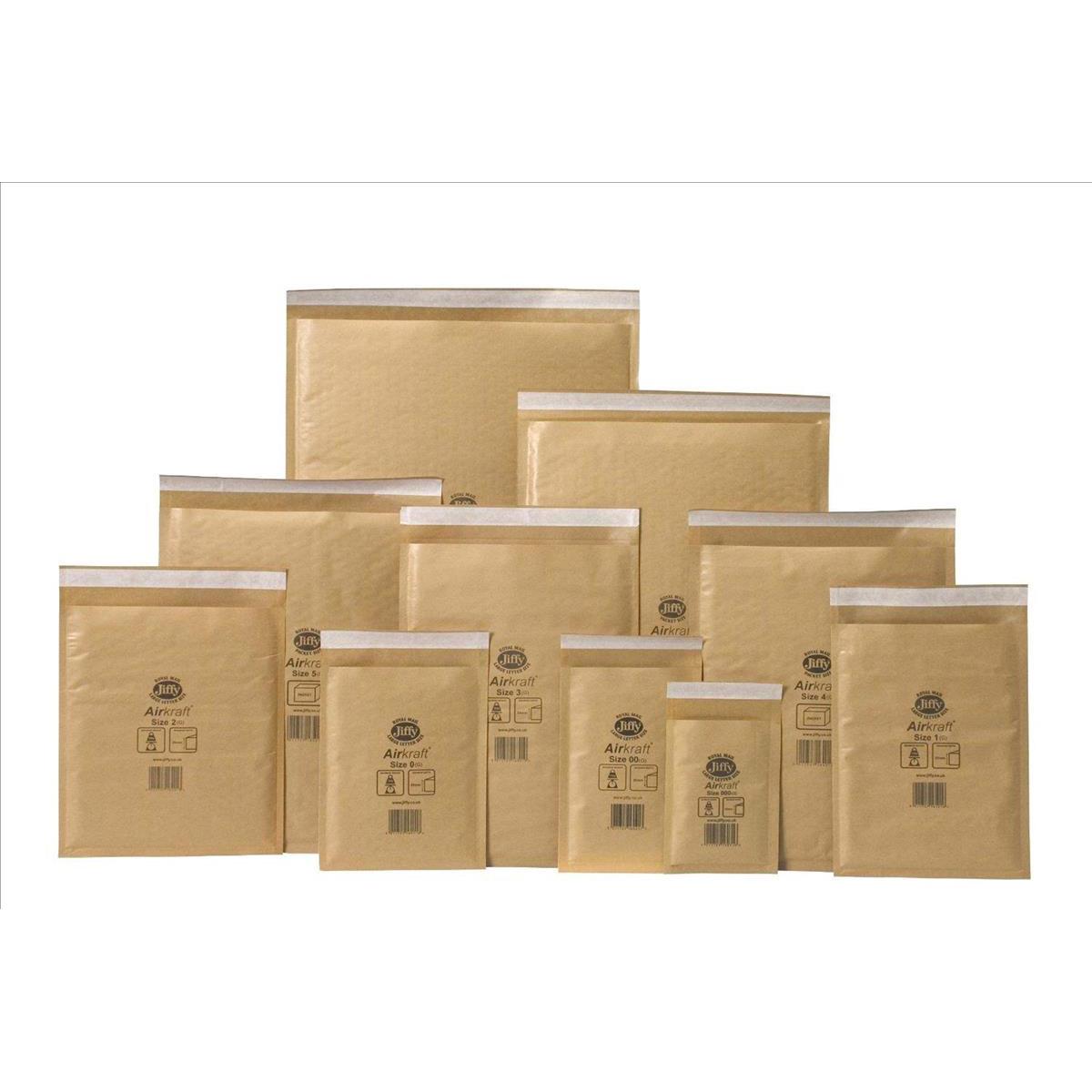 Jiffy Airkraft Bubble Bag Envelopes Size 6 290x445mm Gold Ref JL-GO-6 Pack 50