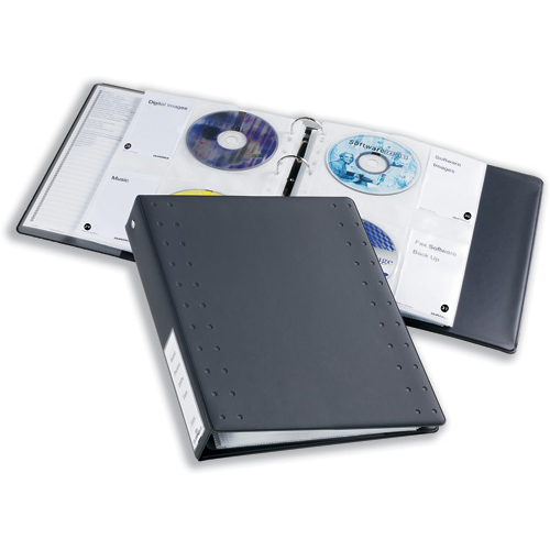 Sleeves Durable CD and DVD Pocket for A4 Index Ring Binder Capacity 4 Disks Clear Ref 522219 Pack 5