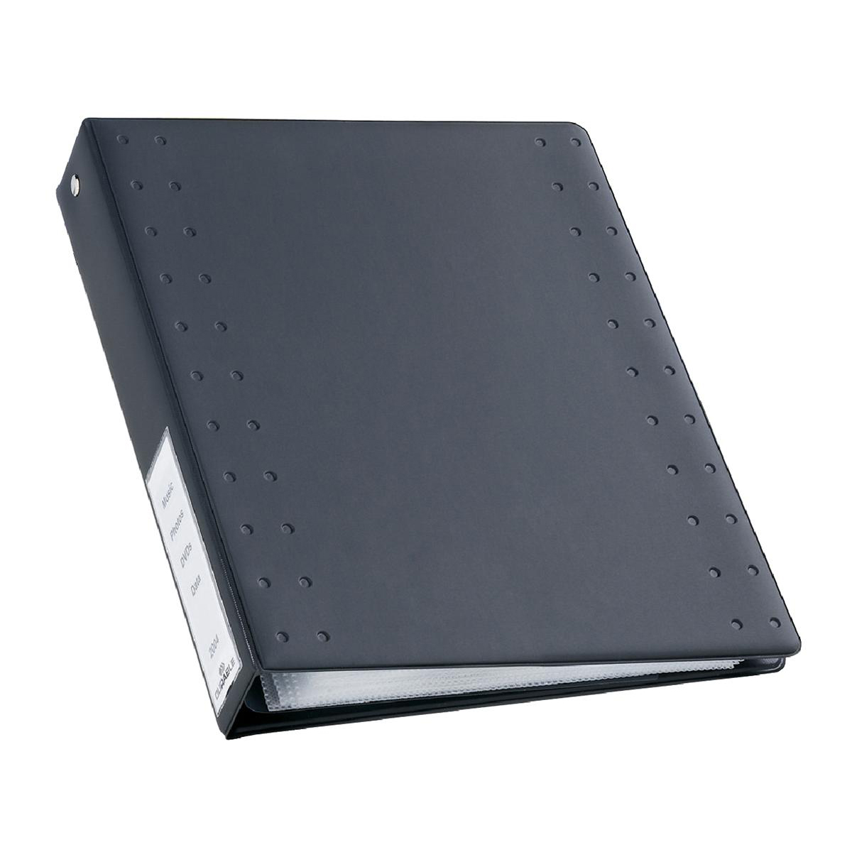 Durable CD and DVD Index Ring Binder Holds 60 Disks A4 Charcoal Ref 522758