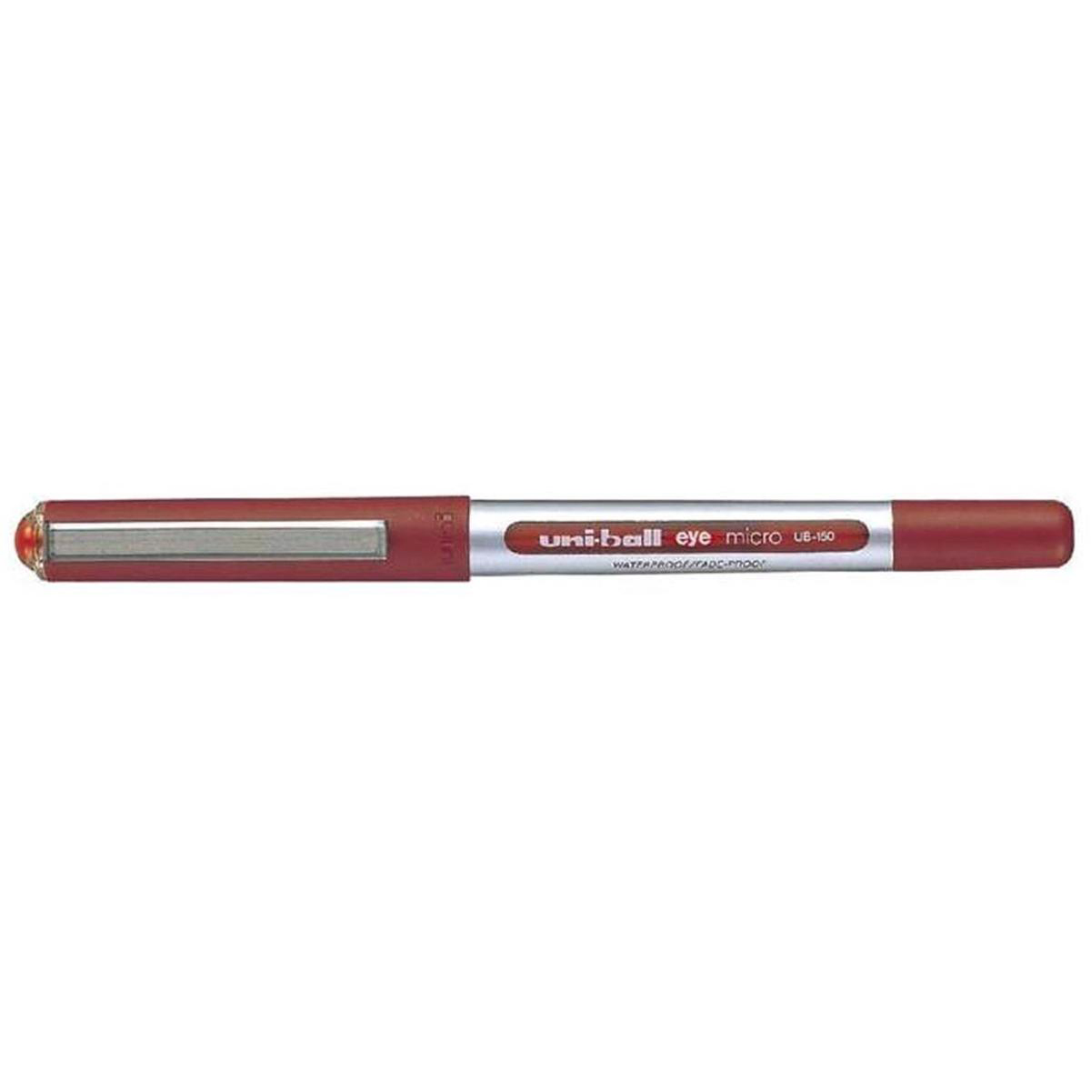 Uni-ball Eye UB150 Rollerball Pen Micro 0.5mm Tip 0.3mm Line Red Ref 162560000 Pack 12
