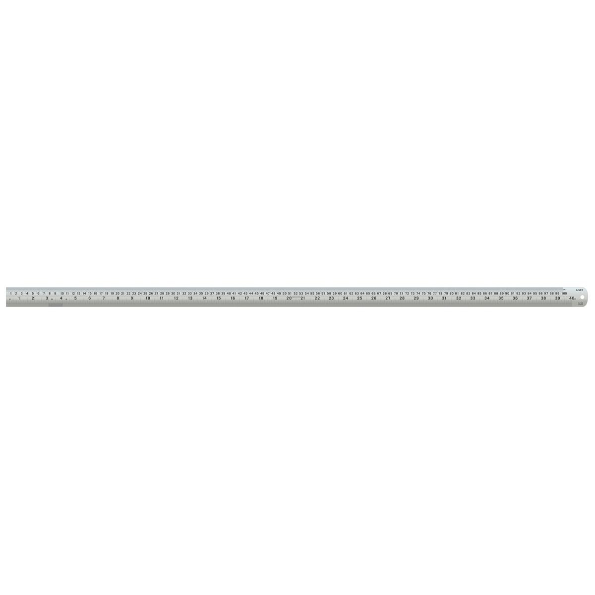 Rulers Linex Ruler Stainless Steel Imperial and Metric with Conversion Table 1000mm Silver Ref LXESL100