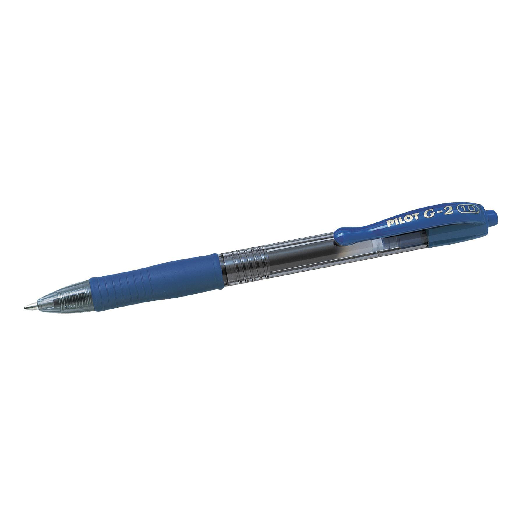 Pilot G210 Gel Rollerball Pen Rubber Grip Retractable 1.0mm Tip 0.48mm Line Blue Ref 043101203 Pack 12